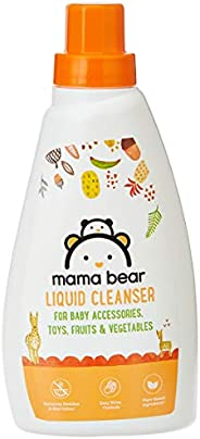 Amazon Brand - Mama Bear Plant Based Baby Liquid Cleanser - 500 ml (For baby bottles, accessories, toys, fruit