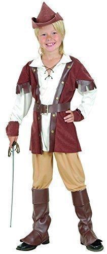 Bambini Deluxe Medievale Arciere Robin Hood Halloween Festa Del Libro Settimana Costume Travestimento 4-14 anni - 12-14 years
