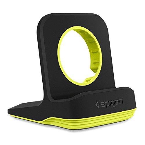 Spigen [Station de Chargement] Support Apple Watch, 4/3/2/1 Compatible avec mode Table de nuit pour Apple Watch Serie 4/3/2/1 44mm, 42mm, 40mm, 38mm, Support de montre Apple S350 (Volt Black)