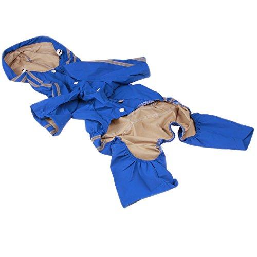Legendog Hund Regenjacke Breathable Outdoor Hund Bekleidung mit Kapuze Hund Regenmantel Haustier Lieferungen für Große Hund 7XL