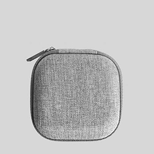 MMD Mobile Festplatte Paket Aufbewahrungsbox Datenkabel Aufbewahrungstasche Kopfhörer Box Stoßfest (Farbe : Gray)