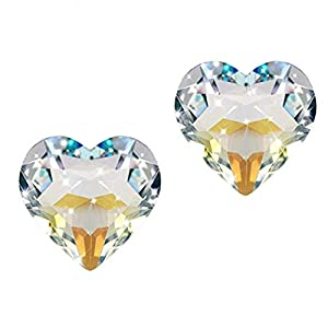 Yardwe 2 Stücke Kristall Suncatcher Herz Kristallkugel Prisma Anhänger Hängen Chakra Kristalle Regenbogen Maker (Ohne Seil)