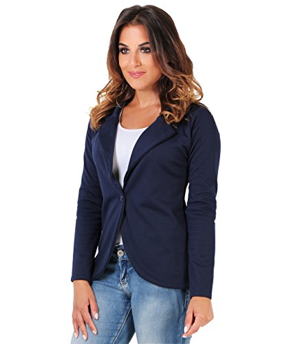 3558-Navy-14 : Tailored Blazer