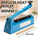 Tradico® TradicoBrand New 12'' Impulse Heat Sealer 300mm Electric Plastic Poly Bag Hand Sealing Machine