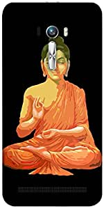 Snoogg Buddha For Peace Black Designer Protective Back Case Cover For Asus Ze...