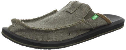 Sanuk Men's M You Got My Back II Slip-On Sandal, Army, 10 M US Army