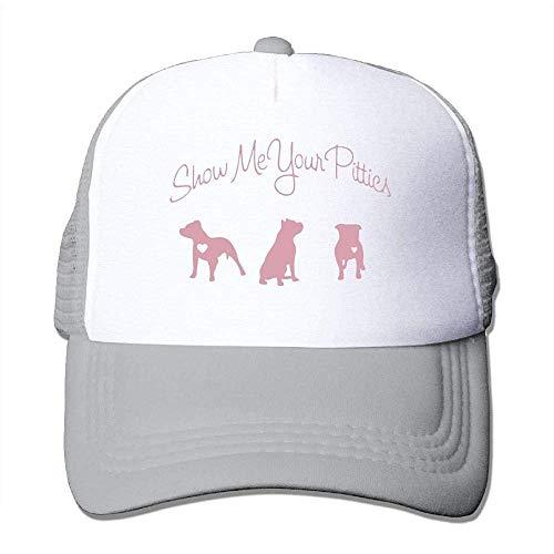 Hoswee Unisex Kappe/Baseballkappe, Show Me Your Pitties Mesh Back Core Baseball Cap Air Mesh Polyester Cap -