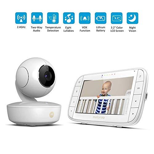 BABY MONITOR ZLMI Moniteur pour bébé Interphone Vocal sans Fil Surveillance Intelligente de la température ambiante 720p HD Qualité Affichage 5 Pouces