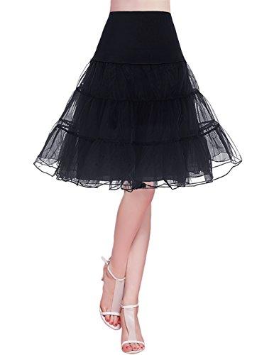 Bridesmay Enaguas Años 50 Vintage para Vestidos Faldas Cortas De...