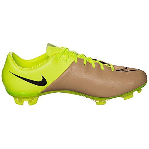 Nike Herren Mercurial Veloce Ii Lthr Fg Fußballschuhe Gold / Schwarz / Grün (Leinwand / Schwarz-Volt)