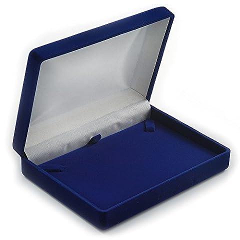 Luxury Blue Velour Brooch/ Pendant/ Earring/ Comb Jewellery Box