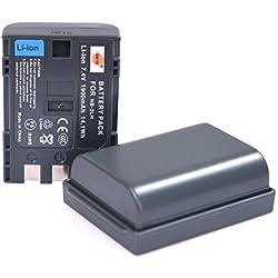 DSTE 2-Pack Rechange Batterie pour Canon NB-2L NB-2LH Optura 30 40 50 60 400 500 PowerShot G7 G9 S30 S40 S45 S50 S60 S70 S80 VIXIA HF R10 HF R100 HF R11 HG10 HV20 HV30 HV40 Digital Rebel XT XTi FV500 FVM20