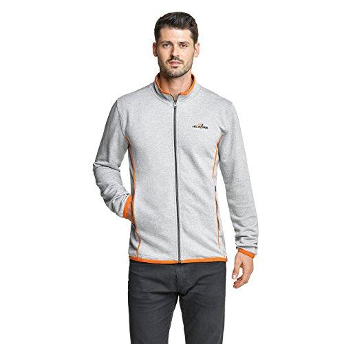 NoOrange Herren Sweatjacke Full Zip Jacke grau-Melange, M Preisvergleich
