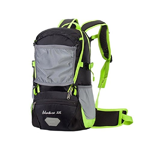 LF&F Backpack Camping et randonnée sacs à dos Sac à dos en plein air hommes et femmes résistant à l'usure résistant aux déchirures accolades réglables avec couvercle de pluie capacité de 22 litres