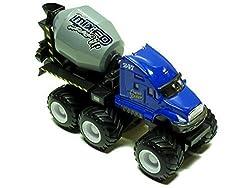 Maisto Fresh Metal Builder Zone Quarry Monster Blue Concrete Mixer Truck Motorized 6 Wheeler