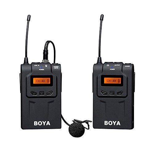 BOYA BY-WM6 48-Channel UHF Microphone sans fil cravate Clip-on Système pour ENG EFP Canon Nikon Sony DSLR Caméras Caméscopes