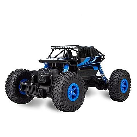 Teckey RC Voiture Télécommandée 4WD Tout Terrain à Haute Vitesse 25 km/h Échelle 1:18 2.4Ghz Radiocommande Ultra Rrésistant HB-P1803 Buggy Course Rapide - Bleu