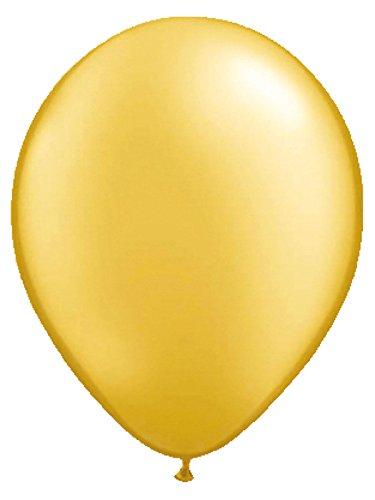 Ballons Party-Deko 10 Stück gold 30cm Einheitsgröße (Luftballons Metallic Gold)