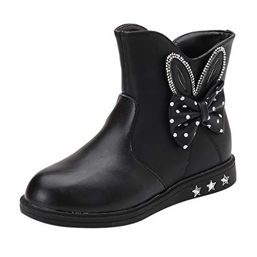 HDUFGJ Kind Kinder Stiefel Prinzessin Schmetterling Knoten Schuhe Mode Lederstiefel Stiefeletten Outdoor Schuhe Bequem Weicher Boden Fitnessschuhe Laufschuhe Turnschuhe