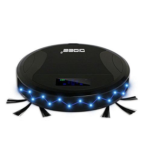 Teckey® WIFI Staubsauger-Roboter 330C mit Ladestation u. Smart-Touch-Funktion - Home - Saugen u/o wischen mit leisem superschlanken Roboter.