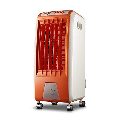 SHANGN Tragbarer 3-in-1-Klimaanlagenlüfter, Verdunstungskühler, Wasser- Und Eiskühlung, Einfache Mechanische Steuerung,Orange (Orange-pc-steuerung)