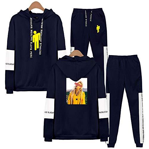 CPHGG Herren 3D Gedruckter Hoodie Anzug Trend Unisex Persönlichkeit Kapuzenpulli + Hosen Mode für Männer und Frauen Beiläufig Langärmliger Anzug Tide