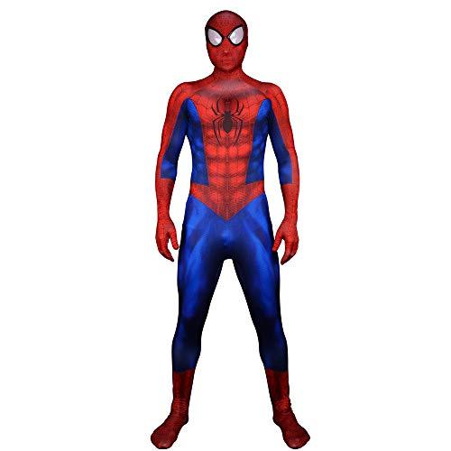 FYBR Premium Spider-Man SuperSkin Kostüm - Erwachsene Unisex Herren & Frauen zweite Haut, Spiderman Zentai Einteiler Kleidung Outfit Halloween Lycra - L