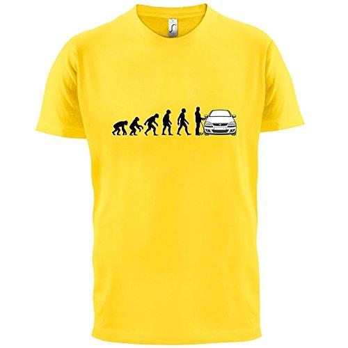 Evolution of Man - Corsa Fahrer - Herren T-Shirt - 13 Farben Gelb