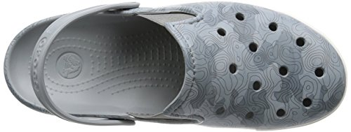 Crocs Citilane topografica Mule Light Grey/White