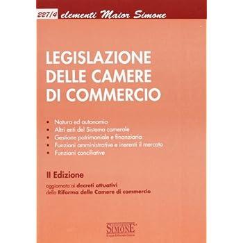 Legislazione Delle Camere Di Commercio