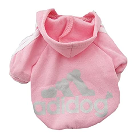AccessoryStation® Animal Petit chien chat chiot pull sport sweat T Shirt Chaud toisin manteau habits costumes habillement (Couleur Rose, taille XXL)