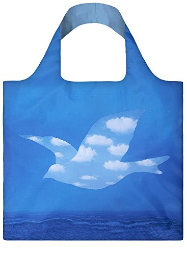 RENE MAGRITTE The Promise Bag: Gewicht 55 g, Größe 50 x 42 cm, Zip-Etui 11 x 11.5 cm, handle 27 cm, water resistant, made of polyester, OEKO-TEX certified, can carry up to 20 kg