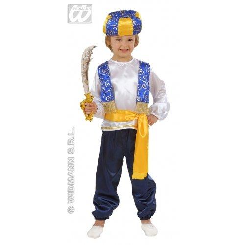 Kostüm Kinder Sultan - WIDMANN Widmannmannmannmann-Kostüm Taglia unica Bianco Azzurro Giallo Nero