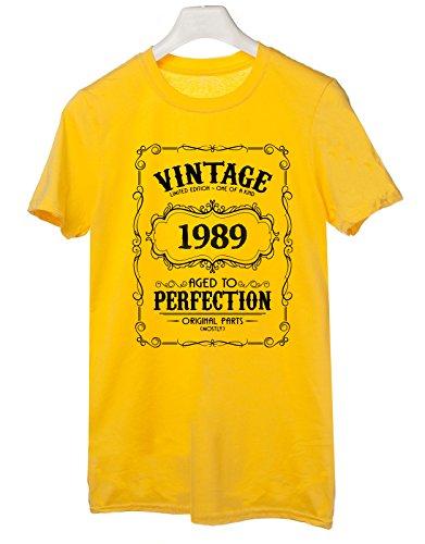 Tshirt 1989- idea regalo per compleanno - for birthday gift - Tutte le taglie by tshirteria Giallo