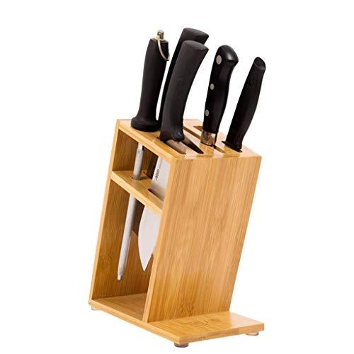 WLWWY Küchenmesserhalter Mit Block Aus Holz, Selbstschärfendes Handbuch Für Kochmesser Set Werkzeughalter Messerhalter Haushalt Küchenwerkzeughalter Regalregal Kein Messer,A