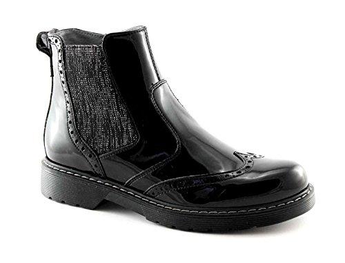 Nero Giardini Black Jardins Junior 31802 Noir Chaussures Bottes Beatles Fille Zip