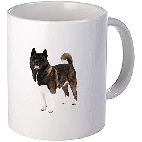 Taurus Akita Dog Personalised Printed Mug -