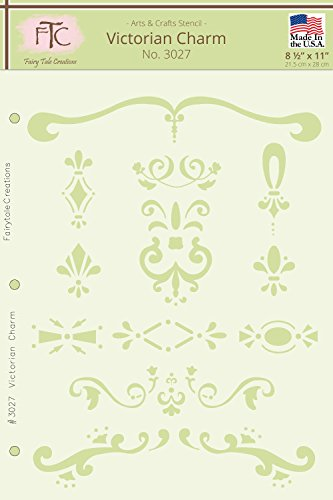 Fairytale Creations viktorianischen Charme Schablone, 21,6cm L x 27,9cm H