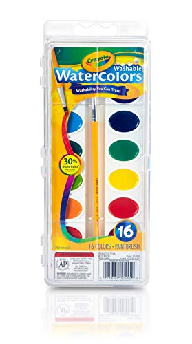 16 colors Crayola Washable Watercolors 53-0555