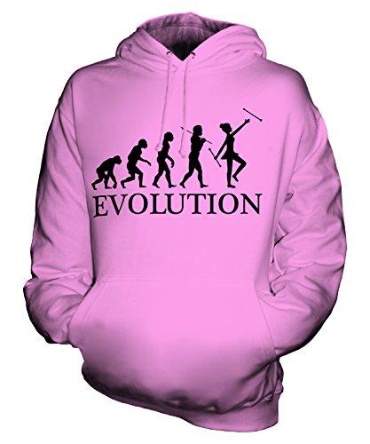 Candymix Baton Twirling Evolution des Menschen Unisex Herren Damen Kapuzenpullover, Größe Large, Farbe ()
