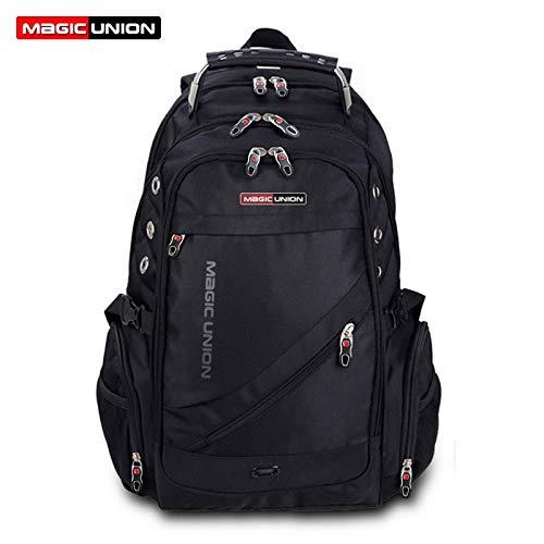 ann Schweizer Rucksack Polyester Taschen Wasserdichter Diebstahlschutz Rucksack Laptop Rucksäcke Herren 36-55L MUBS37200BL ()