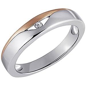 Goldmaid Damen-Ring  925 Sterlingsilber rot vergoldet 1 Zirkonia Gr. 52 Zi R4260S52 rosegold Schmuck