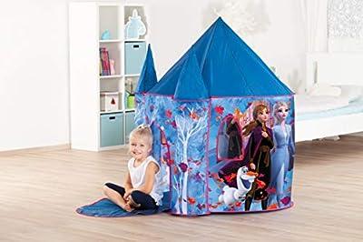 John 75117 Frozen 2 Disney Palace Deluxe - Tienda de campaña para Juegos (estaño, con candado), Color Azul de John