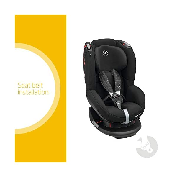 Maxi-Cosi Tobi Toddler Car Seat Group 1, Forward-facing Reclining Car Seat, 9 Months-4 Years, 9-18 kg, Scribble Black Maxi-Cosi Forward facing group 1 car seat suitable for children from 9 to 18 kg (approx. 9 months to 4 years) Install with a 3-point car seat belt, with clear and intuitive seat belt routing High seating position allows toddler to watch outside the window 2