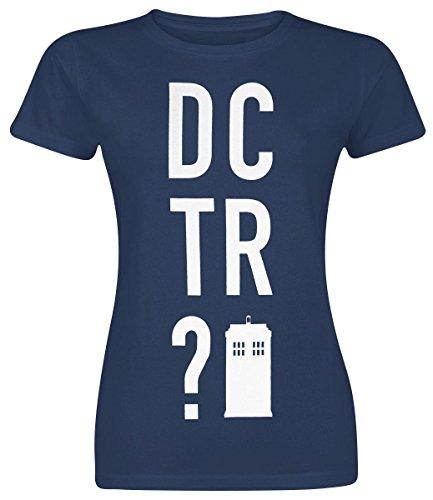 Doctor Who DCTR? T-shirt Femme bleu foncé, Vêtements