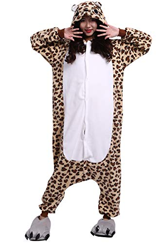 Pijama Animados Kigurumi Cosplay Oso Leopardo Animal para Adulto Unisex