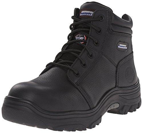 Skechers For Work 77067 Burgin Comp Boot Toe Work Black