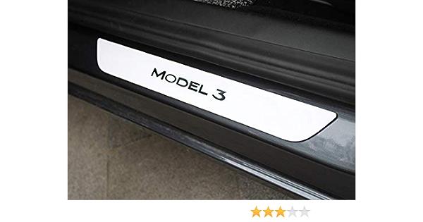 Gabriel Model 3 Einstiegsleisten Edelstahl Weiß Matt Auto