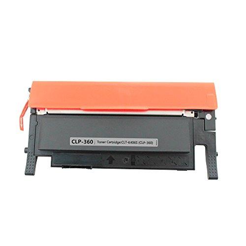 Preisvergleich Produktbild 1x Kompatible Tonerkartuschen zu Samsung CLP360/CLP365 Schwarz für Samsung CLP-360/365/368 CLX-3300/3305 Drucker schwarz, ca. 1.500 Seiten