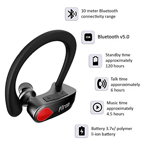 pTron Twins Pro in-Ear True Wireless Bluetooth Headphones (TWS) with Mic - (Black) Image 2